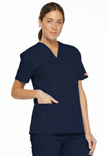 Dickies Scrubs V Neck Scrub Top Dickies EDS 86706 Signature Navy