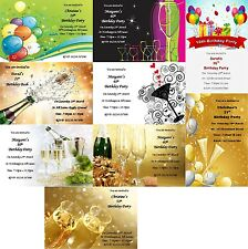 PERSONALISED 18th 21st 30th 40th 50th BIRTHDAY PARTY INVITATIONS WITH ENVELOPES