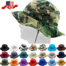 Bucket Hat Boonie Hunting Fishing Outdoor Cap Washed Cotton NEW