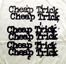 NEW! Cheap Trick Stacked Logo Classic Rock Band Licensed Concert Juniors T-Shirt
