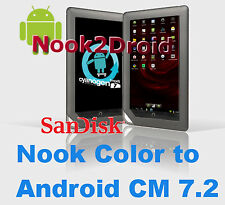 Nook2Droid Nook Color to Android 16GB Dual Boot microSD Memory Card Android 2.3