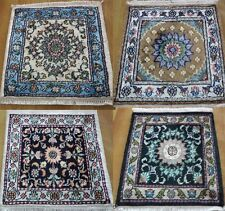 1' X 1' Beautiful Handmade Silk Persian Oriental Area Rug 200 KPSI PART #2