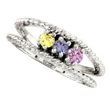 Mother's Jewelry Sterling Silver 2-12 Round Birthstones Mothers Ring, Moms gift