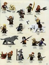 Lego Lord of the Rings Hobbit minifigures with weapons minifigure mini figure