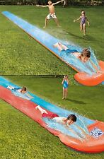 18' INFLATABLE RACEWAY GARDEN WATER SLIDE OUTDOOR RALLY PRO ACTIVITY FUN GAME