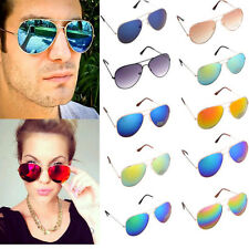 Unisex Women Men Vintage Retro Fashion Aviator Mirror Lens Sunglasses Glasses A+