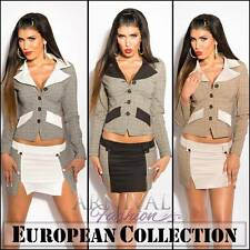 NEW EUROPEAN DESIGNER SKIRT SUIT SET 6 8 10 12 14 BUSINESS BLAZER sz XS S M L XL
