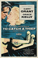PLAQUE ALU DECO REPRO AFFICHE TO CATCH A THIEF CARY GRANT GRACE KELLY