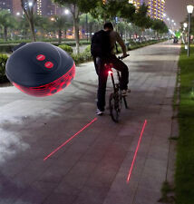 5 LED+2 Laser Cycling Bicycle Bike Red Rear Tail light Lamp Waterproof Flash New