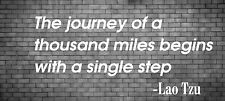 Journey of a thousand miles Lao Tzu wall quote sticker decal art transfer 1000