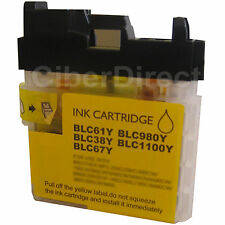 1 CiberDirect YELLOW Compatible LC980 Y Ink Cartridge for Brother Printers.