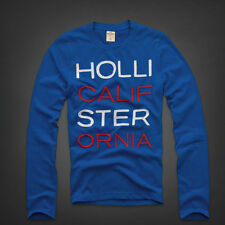 Hollister by Abercrombie and Fitch New! Mens Long Sleeve Blue CottonT-Shirt~L-XL
