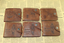 men Bifold Leather Wallet Pockets Card Clutch Cente Money Clip Card Holder Purse