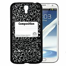School Composition Notebook Hard Snap Cell Phone Case For Samsung Galaxy S3 S4