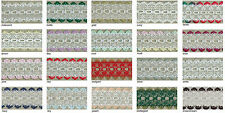 Eyelet Knitting in Lace - 5 metres Choice of pretty colours