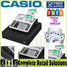 NEW CASIO ELECTRONICS SE-S400 SES400 SE S400 CASH REGISTER TILL 20 FREE ROLL