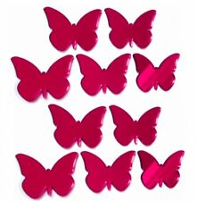 Red Mirrored Butterflies Crafting Decorative 3mm Acrylic Mirror & Sticky Pads