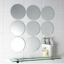 Pack of 10 x 5cm Diameter Small Circle Mosaic Mirror Tiles, 3mm Acrylic Mirrors