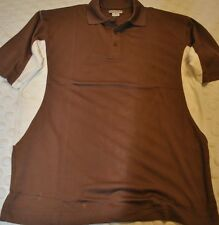 NEW The Balvenie Mens Golf Style Shirt Top Two Tone Brown & White Super Soft