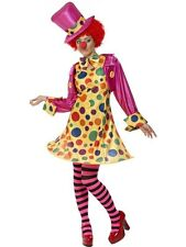Ladies Sexy Circus Clown Adult Halloween Fancy Dress Hen Night Costume Outfit