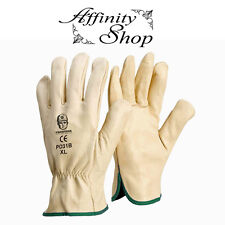 4 Pairs Rigger Gloves Cow Leather Work Glove Beige Riggers Good Quality Any Size
