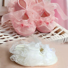 Hot New Cute on-Slip Newborn Shoes Baby Toddler cloth Shoes With Lace Pink