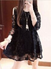 2014 new fashion summer Sleeve Strapless lace flowers dress for pregnant women