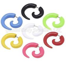 Single Or Pair of Imitation Fake Spiral Tapers Ear Expanders 16 Gauge (1.2mm)