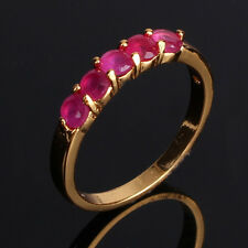 Sweet heart 24k gold filled RUBY well-liked style smart wedding ring Sz5-Sz9