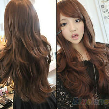 Womens Girls Elegant Fashion Style Wavy Curly Long Hair Full Wigs B57U