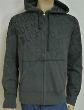 American Eagle Outfitters AEO Gray Overall Mens Zip Hoodie Sweatshirt Jacket NWT