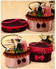 Cosmetic Bag Toiletry Bag Zipper Make-up Hand Case Bag with Dot Patterns 4 Color