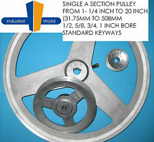Aluminium V Belt Pulley A Section Single Groove various sizes from 1-1/4 to 20""
