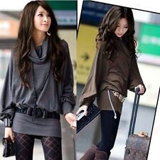 CNZ LADY TURTLENECK BATWING SLEEVE LOOSE LONG SLEEVE TOP GWF-6173