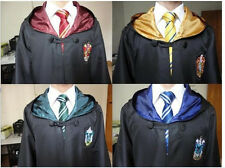 New Harry Potter Adult Robe Cloak Cape Gryffindor/Slytherin/Hufflepuff/Ravenclaw
