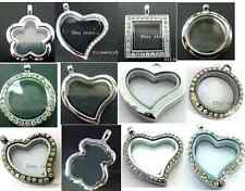 mixed style 30mm Floating Memory living Glass Locket fit DIY floating charms