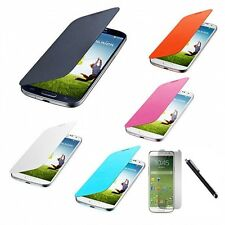 Flip PU Leather Case Smart Wake Cover For Samsung Galaxy S4 S IV i9500 Film Pen