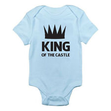 KING OF THE CASTLE - Father's Day / Gift / Birthday Themed Baby Grow / Suit
