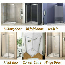 Bifold/Pivot/Hinge/Sliding Shower Door Enclosure Glass Screen Cubicle 700-1700mm