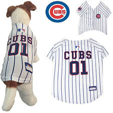 MLB Pet Fan Gear CHICAGO CUBS Jersey Shirt Tank for Dog Dogs Puppy Puppies