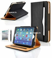Ultra Thin Smart Book 360 Black and Tan Case For Various Samsung Tablets