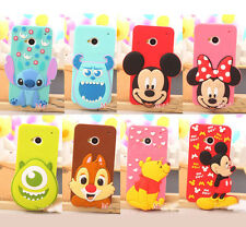 New Arrivals Lovely 3D Cartoon design soft silicone case cover For HTC One M7