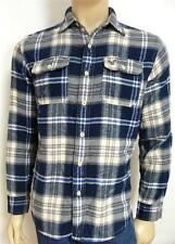 American Eagle Outfitters AEO Flannel Mens Blue Gray Plaid Button Up Shirt NWT