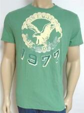 American Eagle Outfitters AEO Defenders Tee Mens Green Flocked T-Shirt New NWT