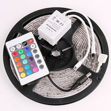 12Volt 5M 16.4ft 3528 LED Strip Ceiling Lighting Flexible Waterproof IP65+remote