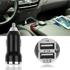 Car Charger Adaptor Mini Bullet Dual USB 2-Port For iPhone Samsung Cell Phones