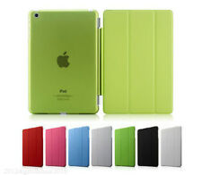 Ultra Slim Pu Leather Smart Cover Stand with Clear Back Case For iPad + GIFT