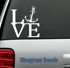 B1031 BOAT LOVE ANCHOR DECAL STICKER for CAR TRUCK SUV VAN WALL SAILING BOATING