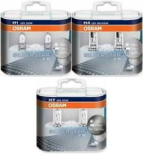 OSRAM SILVERSTAR 2.0 HEADLIGHT BULBS H1 H4 & H7 FITTINGS COMES IN DUO HARD CASE