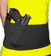 "Belly Band Holster Elastic 6"" Black Conceal Carry"
